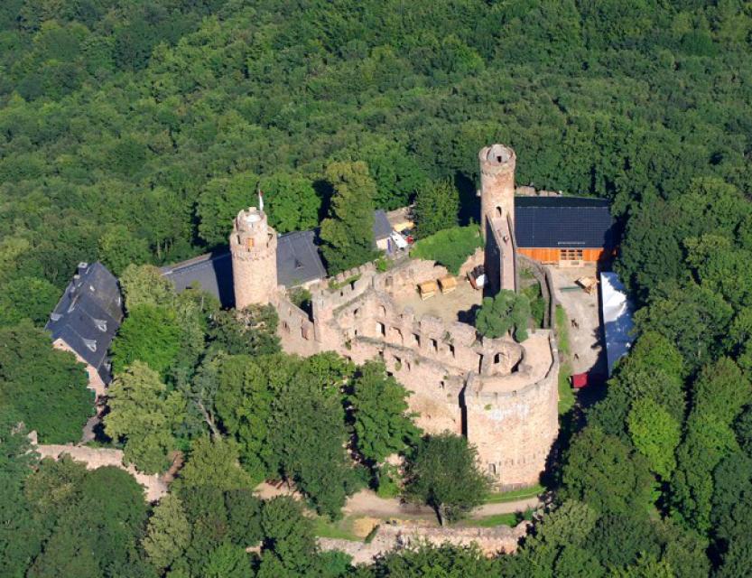 Schloss Auerbach Luftbild