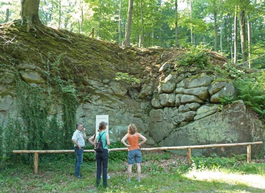 Alter Steinbruch Geopark Pfad Bergbau