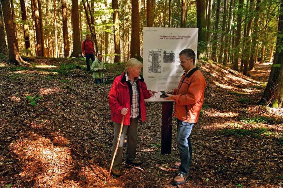 Schachthalde Geopark Pfad Bergbau