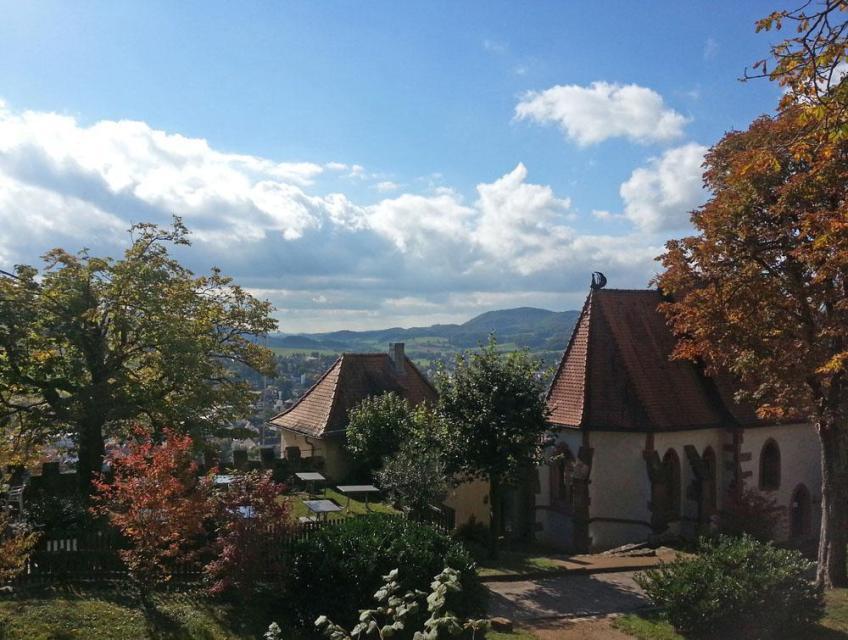 Blick vom Schloss Reichenberg