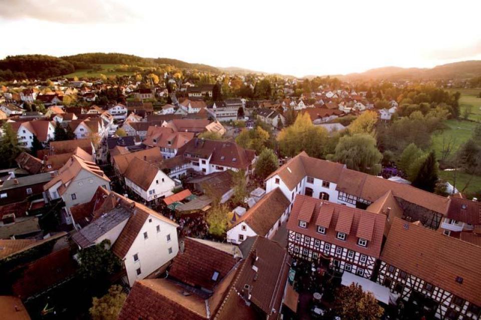 Blick vom Kirchturm auf Reichelsheim