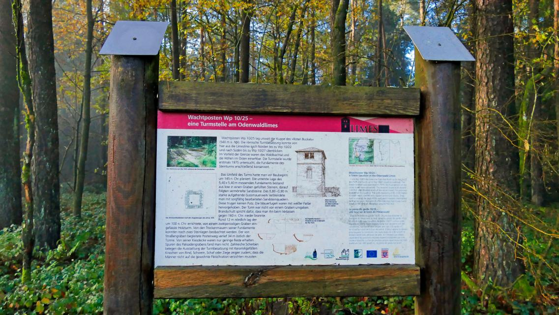 Infotafel zum Odenwald-Limes