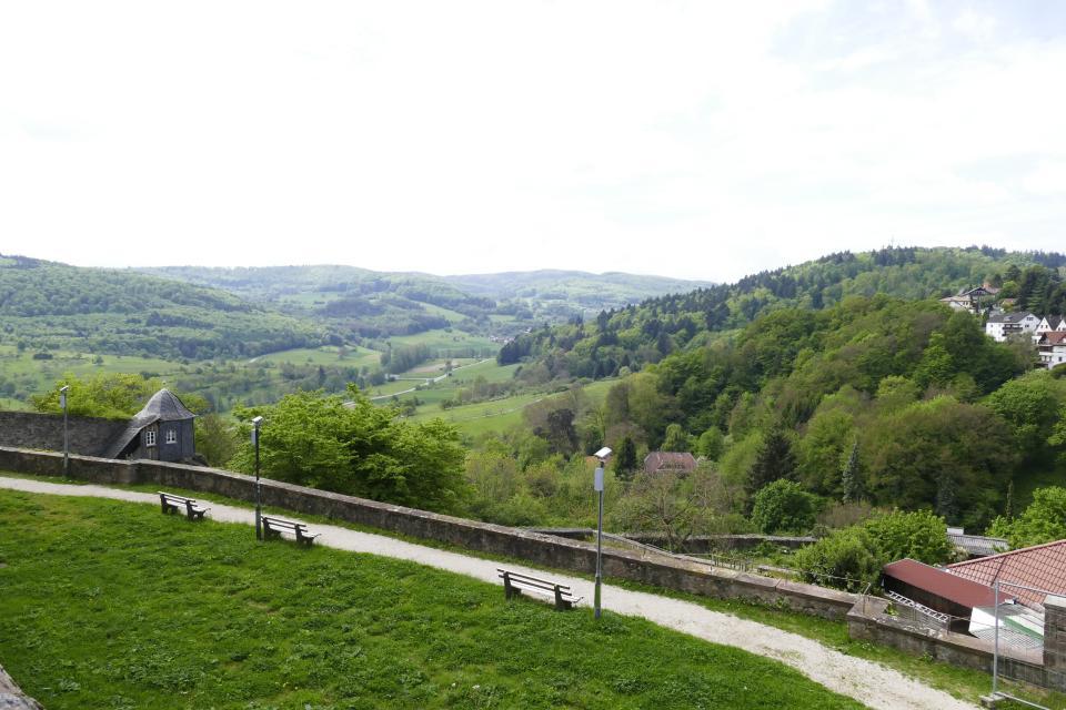 Ausblick vom Schloss Lichtenberg