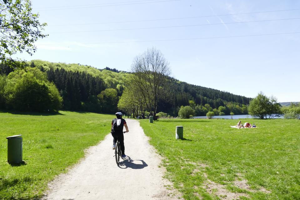 Unterwegs am Marbachstausee