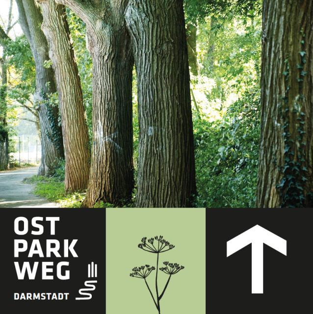 Ostparkweg Markierung