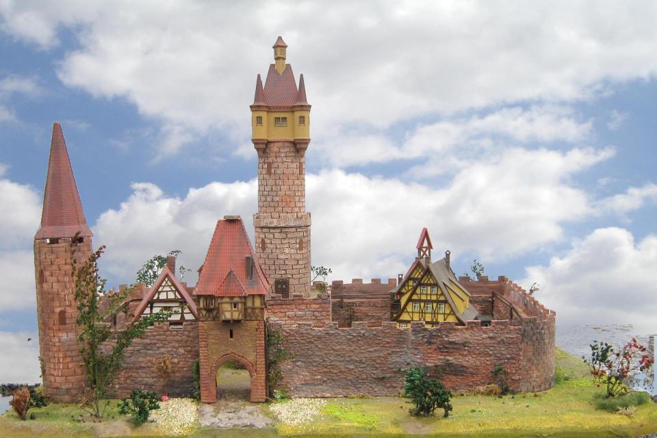 Modell der Hauptburg