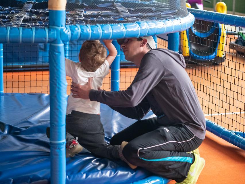 Spiderturm mit Elternhilfe