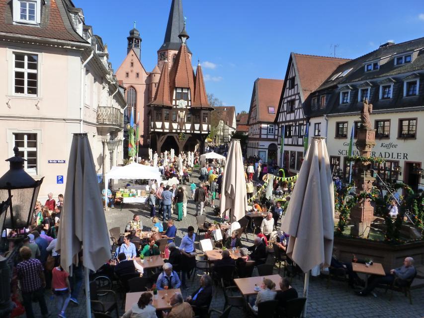 Historische Altstadt im Frühling