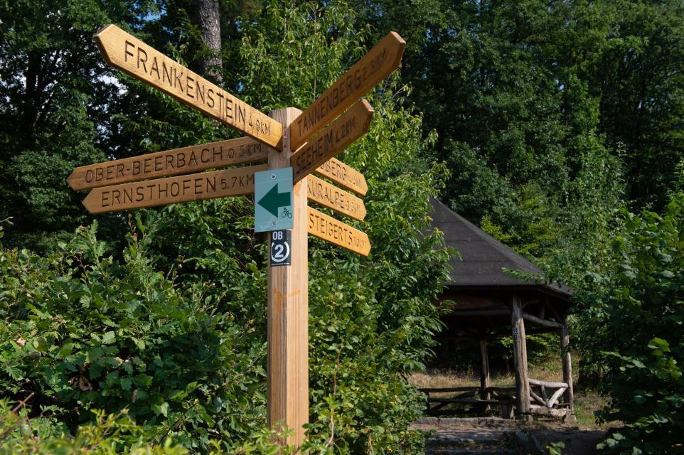 Viele Wege haben ihren Start am Schloss Alsbach