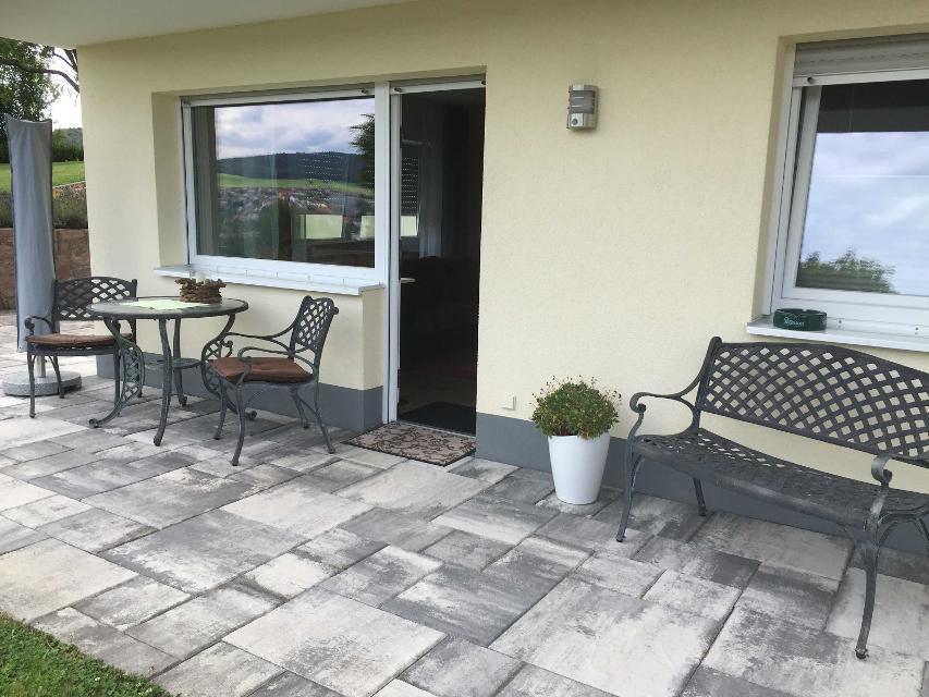 Terrasse mit Blick auf Michelstadt