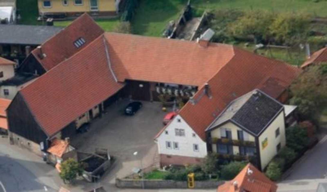 Ansicht des Ferienhofes aus der Luft