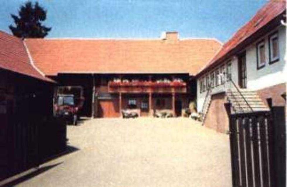 Ein Blick in den Hof des Ferienhofes