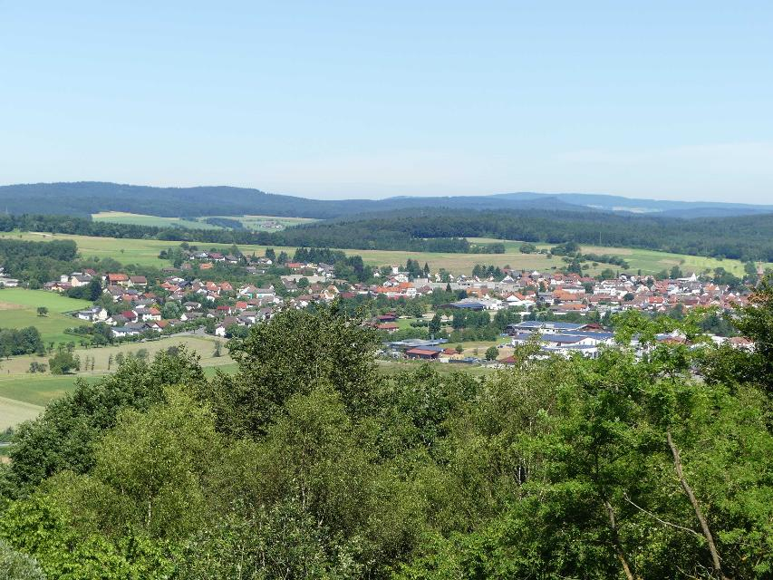 Blick auf Beerfelden