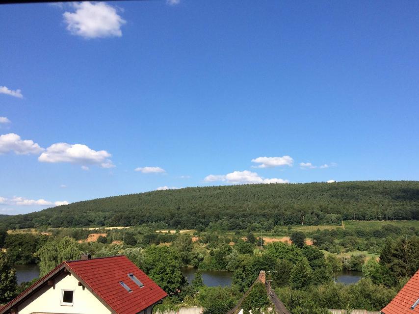 Blick vom Odenwald über Main zum Spessart