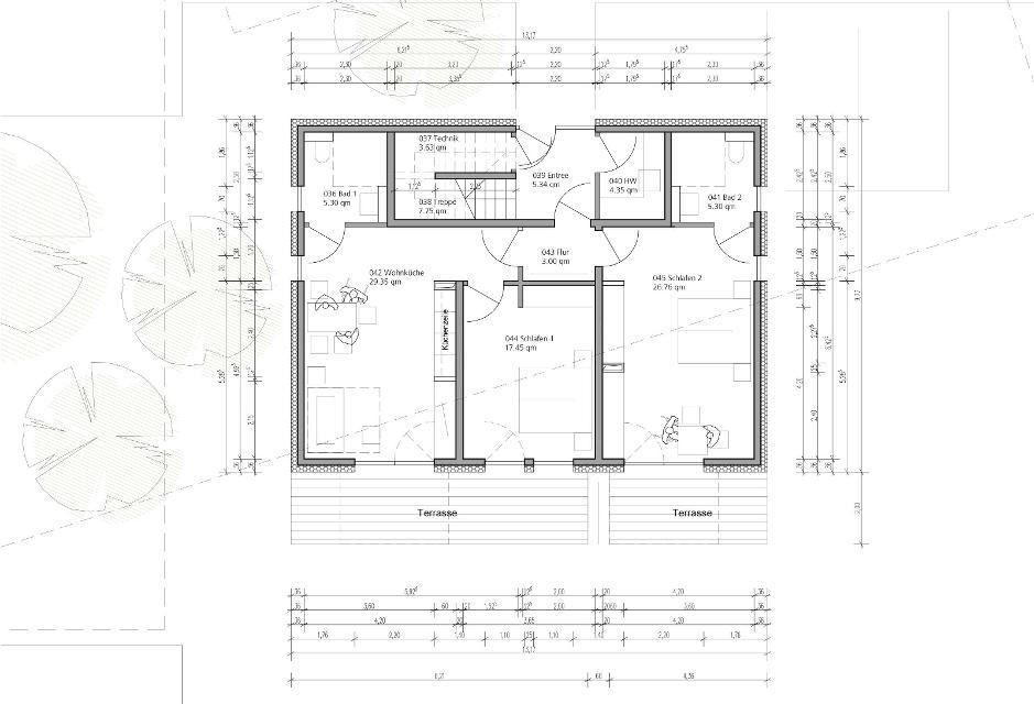 Raumplan Erdgeschoss