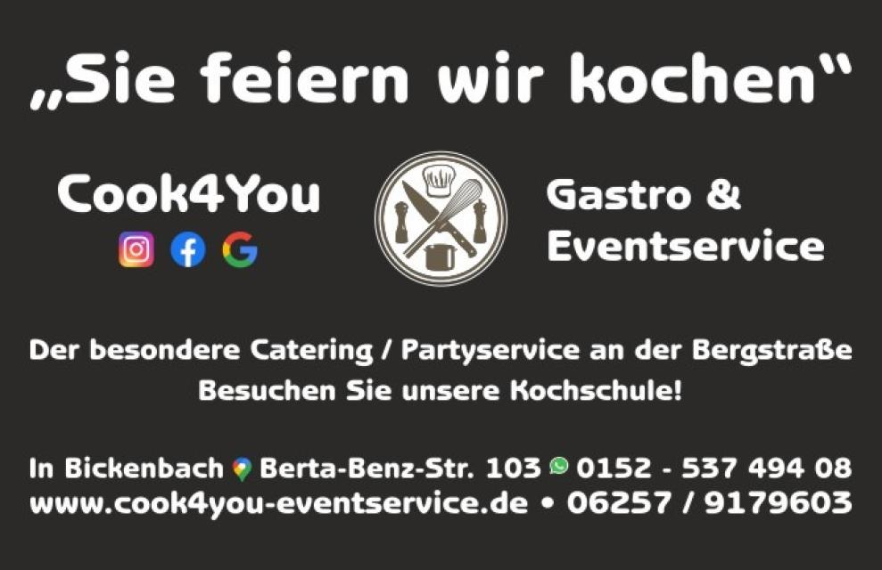 Cook4You Catering- und Partyservice in Bickenbach