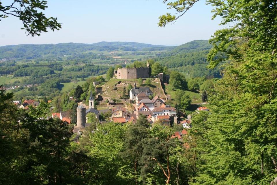 Ruine einer mittelalterlichen Burg Lindenfels