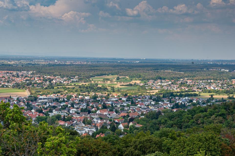 Ausblick vom Schloss Alsbach