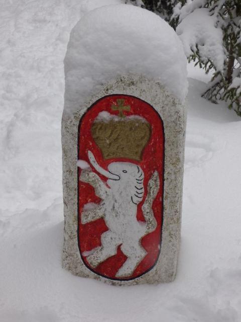 Schneeschuh - Grenzsteig Tour zum Zwercheck mit 1333 Meter Höhe!