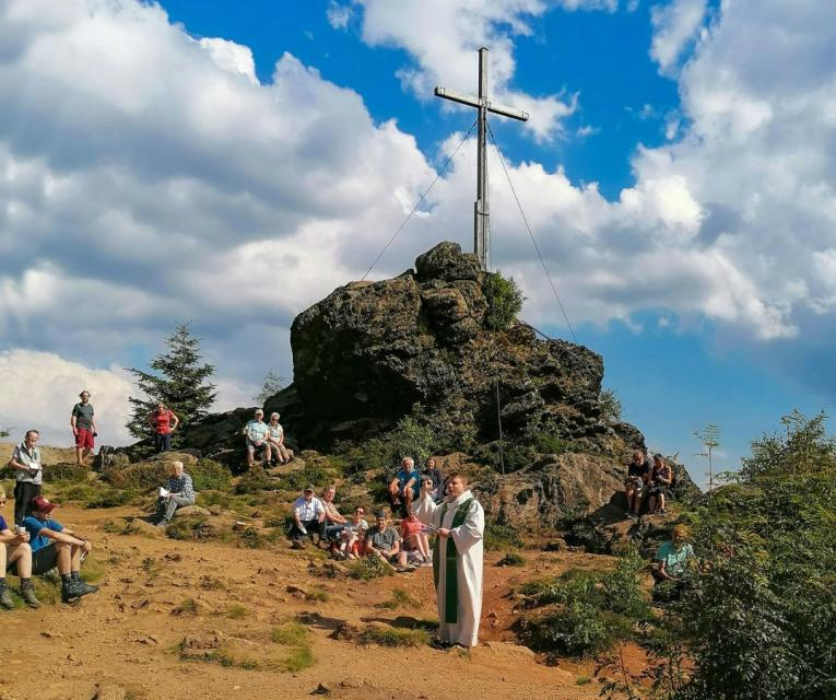 Berggottesdienst auf dem Silberberg