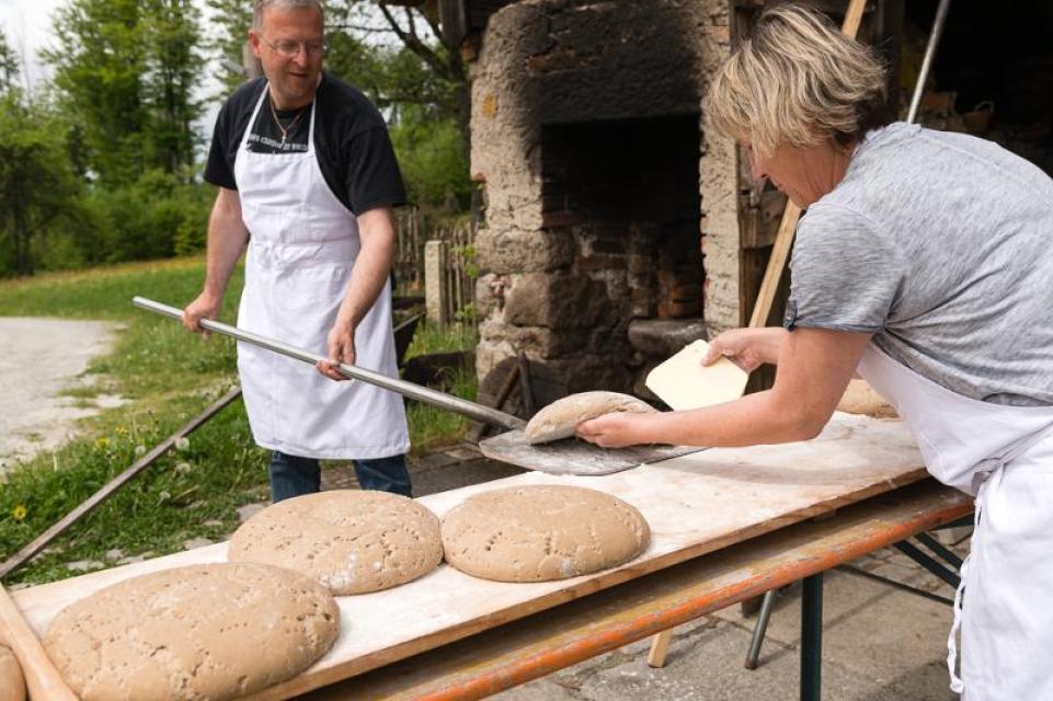 Brotbacken auf dem Harlachberg