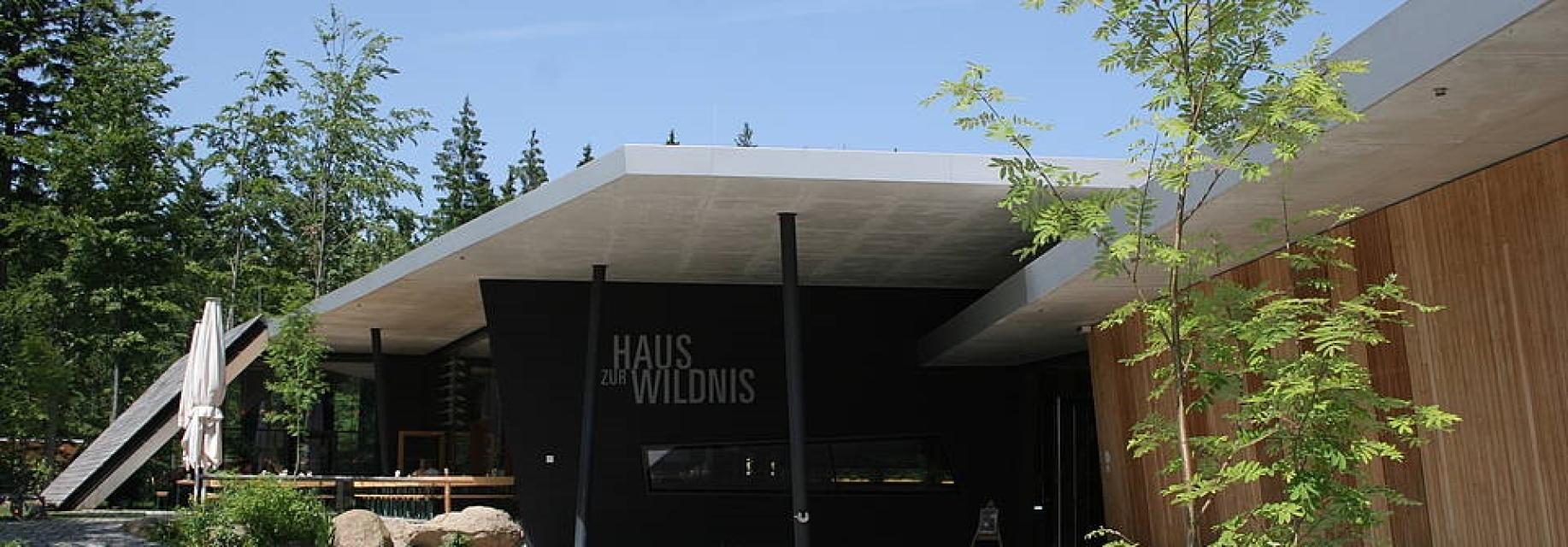 Besucherzentrum Haus zur Wildnis - Aussichtsturm im Tierfreigelände