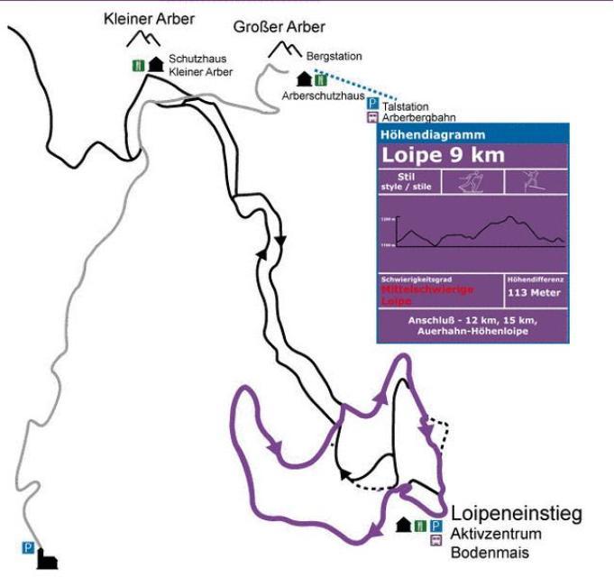 Lila 9 km Panoramaloipe klassisch / Skating
