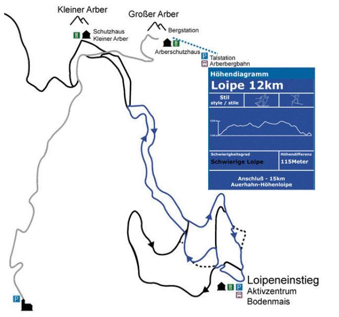Blau 12 km klassisch / Skating
