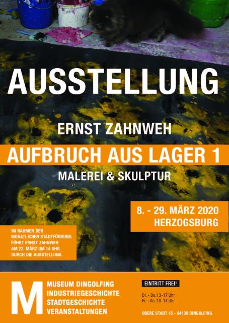 """Monatliche Stadtführung: Führung durch die Ausstellung von Ernst Zahnweh """"Aufbruch aus Lager 1"""""""