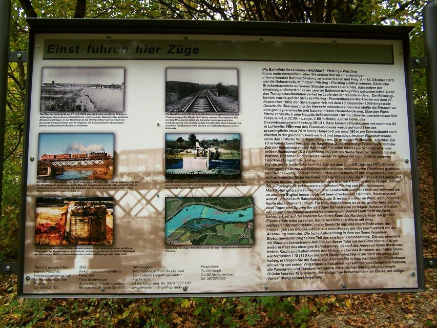 Gedenkstein Bahnstrecke Mamming -