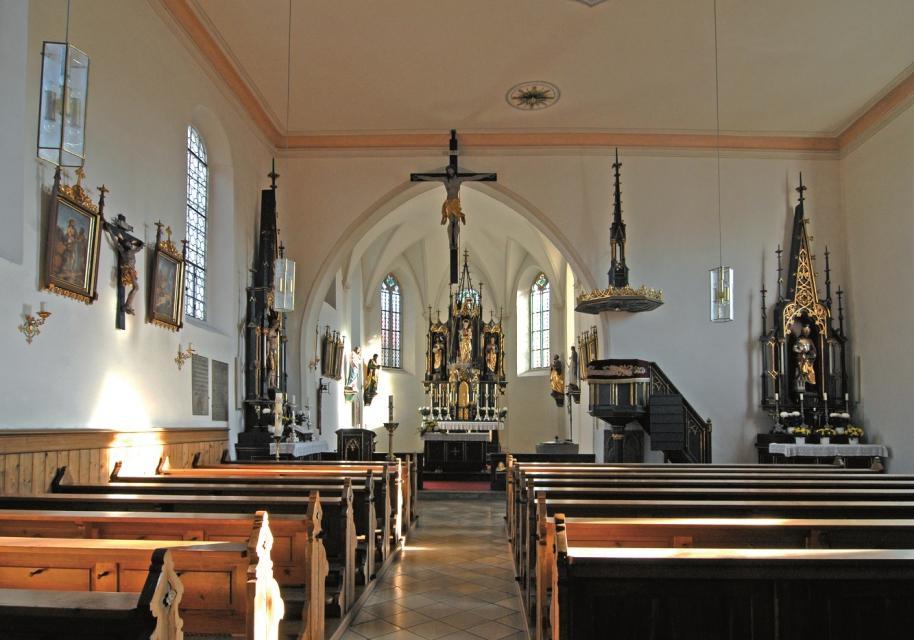 Kirche Mariä Geburt Mariaposching - Innenansicht - null