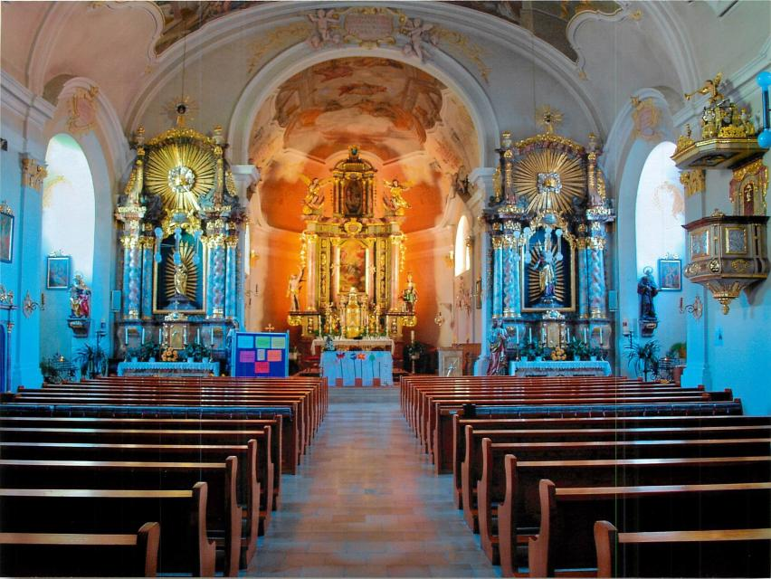 Kirche St. Martin Schwarzach Innenansicht - null