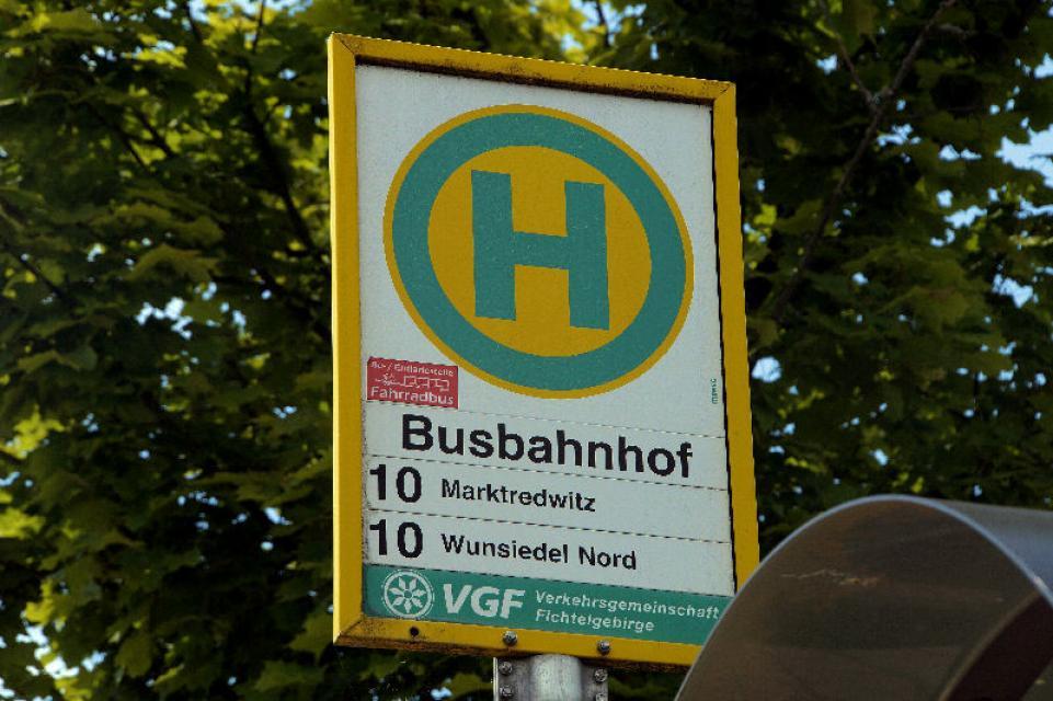 Bushaltestelle Wunsiedel Busbahnhof