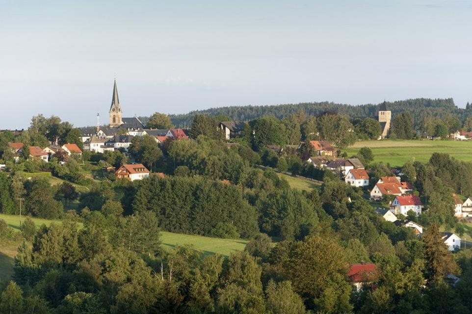 Ansicht vom Fröbershammer auf Bischofsgrün