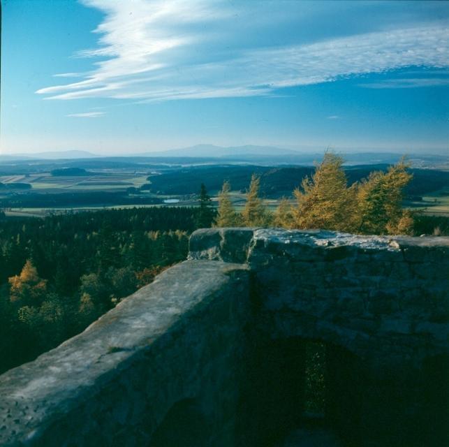 Blick von der Burgruine Epprechstein