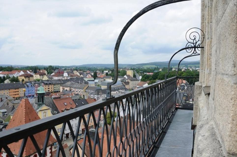 Blick vom Kirchturm über Marktredwitz