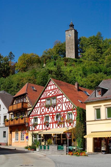 Burgberg und Marktplatz von Bad Berneck