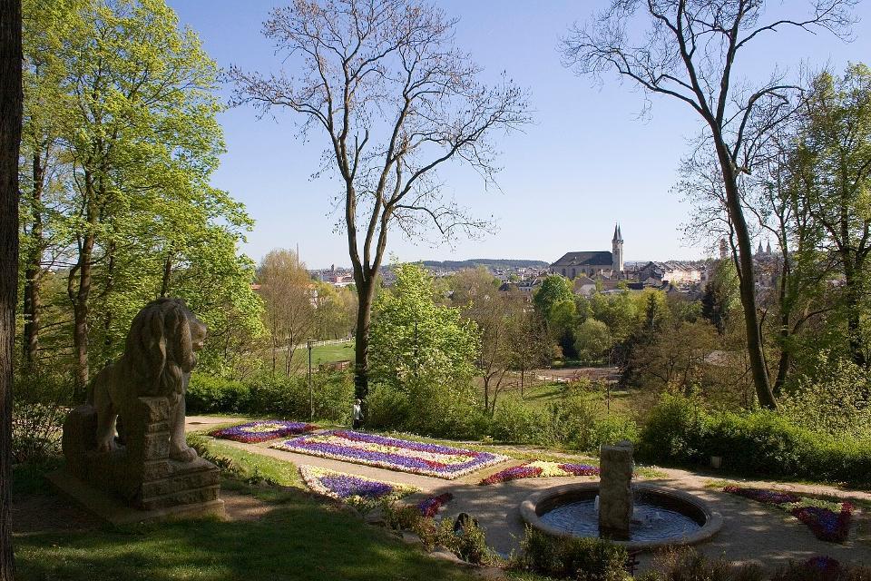Blick vom Theresienstein auf Hof