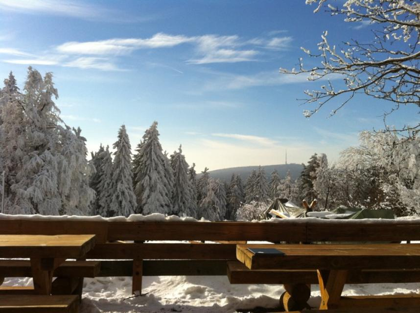 Winterblick vom Seehaus