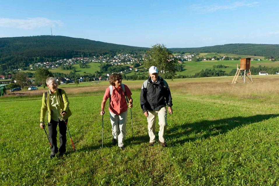 Bischofsgrün - Wanderer