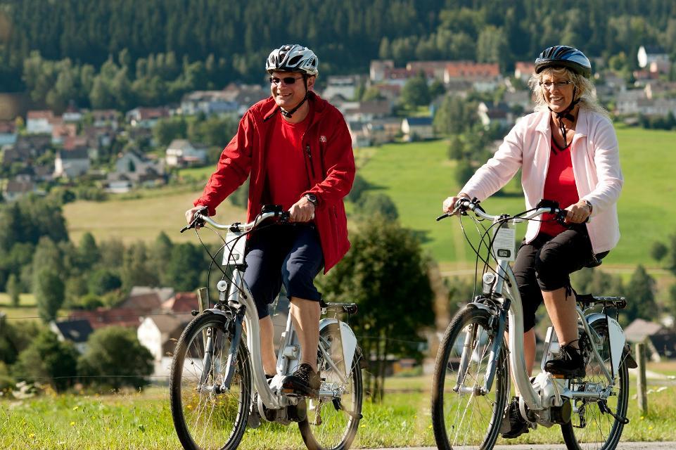 E-Biker in Bischofsgrün