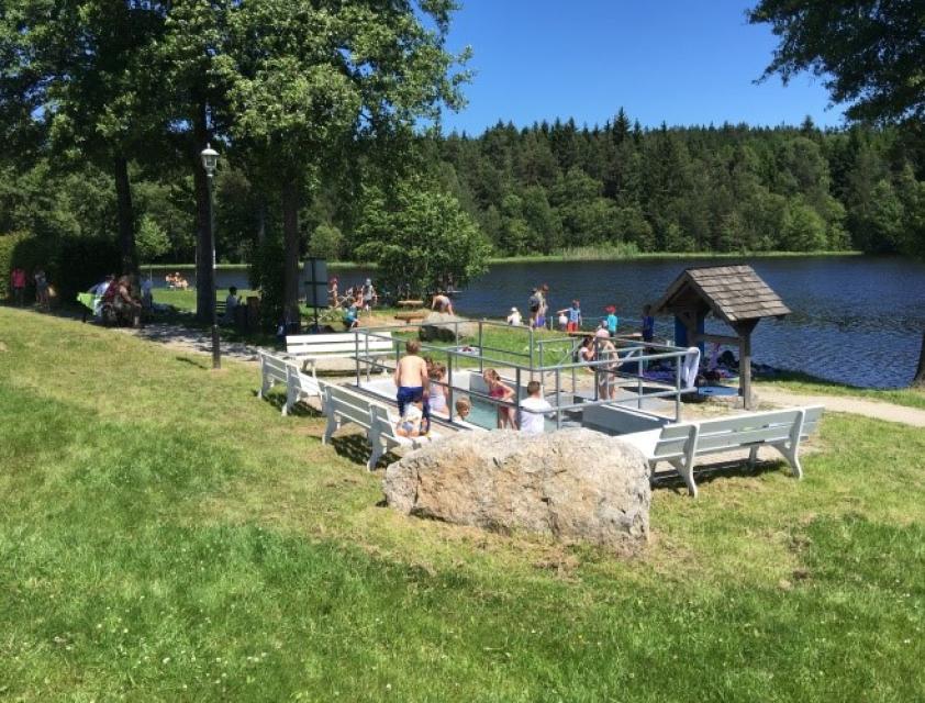 Wassertretbecken am Nageler See