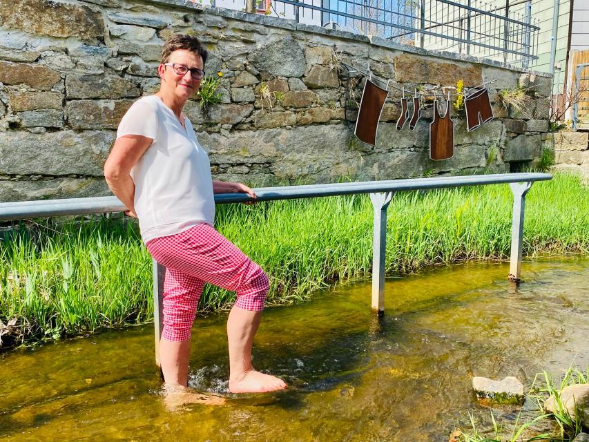 Wassertretanlage an der Vitalscheune in Wunsiedel