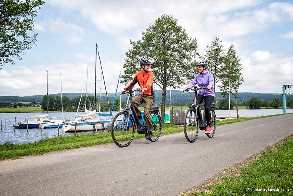Radfahrer am Weißenstädter See