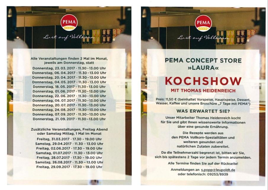 PEMA Kochshow mit Thomas Heidenreich