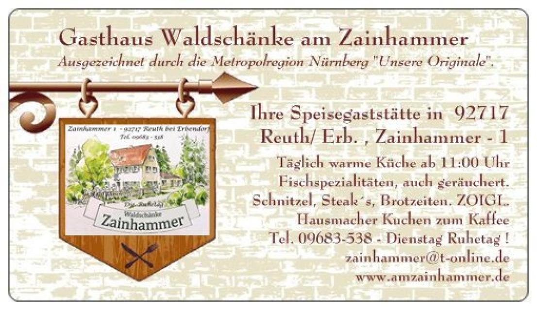 Gasthaus Waldschänke Zainhammer - Helmut Söllner