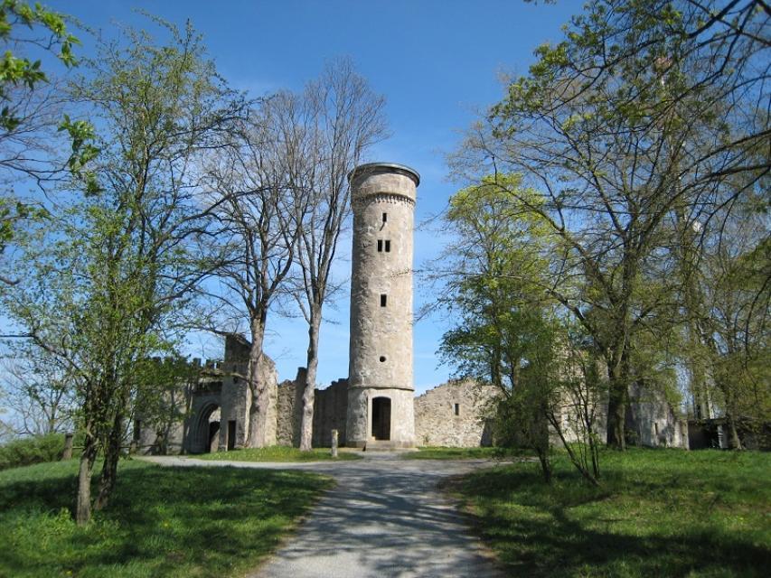Bürgerpark Theresienstein - Ruine mit Basteirundbau