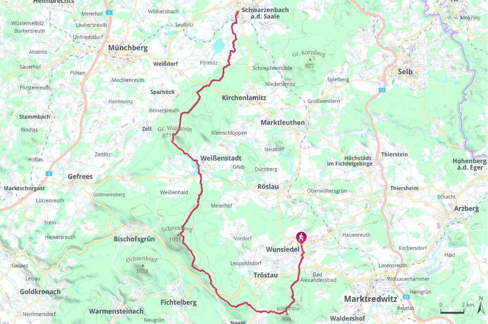 Höhenweg komplett Wunsiedel - Schwarzenbach Saale