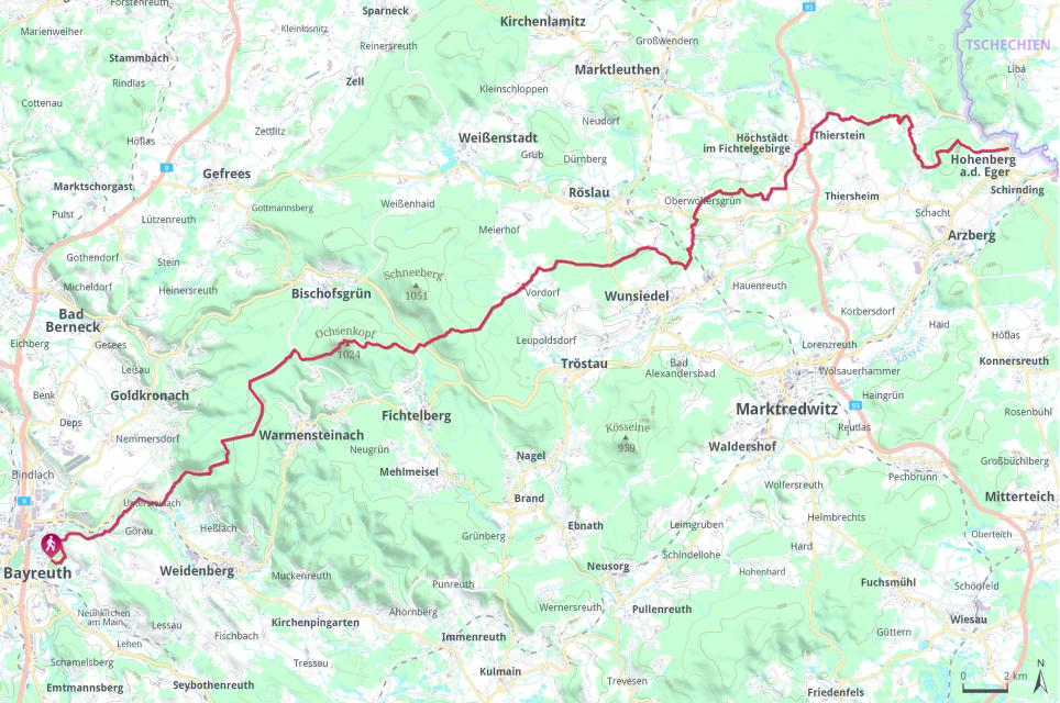 Mittelweg komplett Bayreuth - Hohenberg
