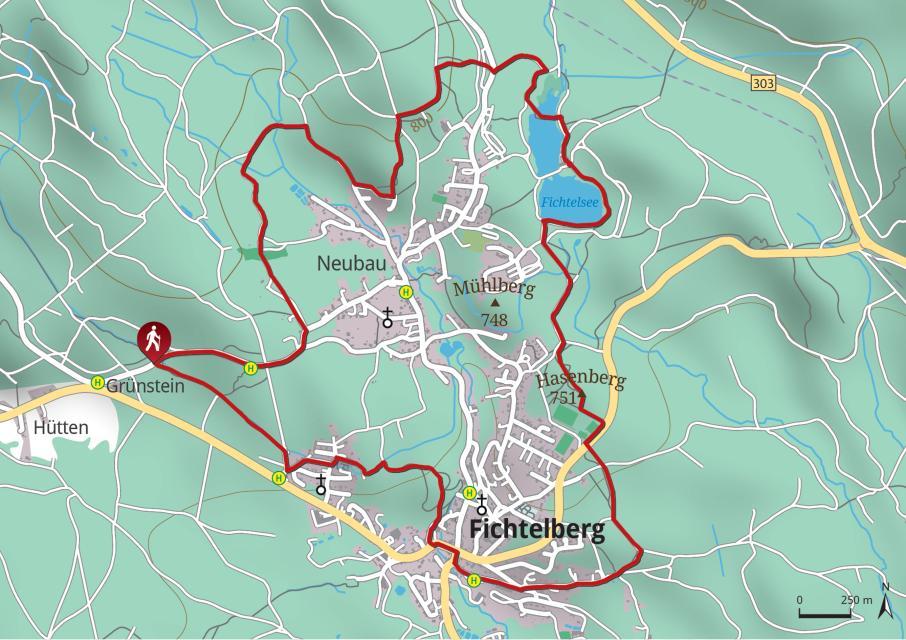 Rundwanderweg 2 Fichtelberg-Neubau